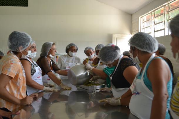 """Alunos concluem primeira etapa do curso """"Cozinha Sustentável"""" (Ceasa/Pa)"""